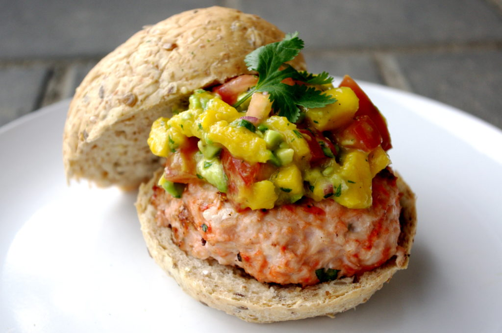 Image result for Chicken Burgers With Mango Relish