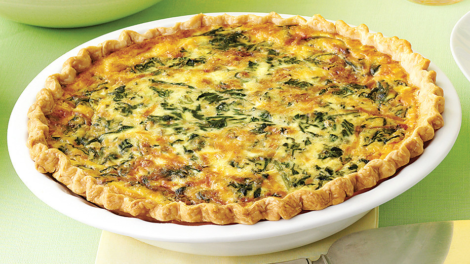 Image result for Spinach and cheese quiche